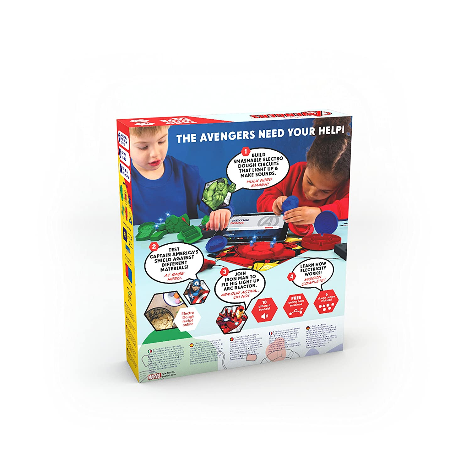 Technology Will Save Us Tech Will Save Us Avengers Electro Hero Kit Educational Dough Stem Toy for Ages 4+