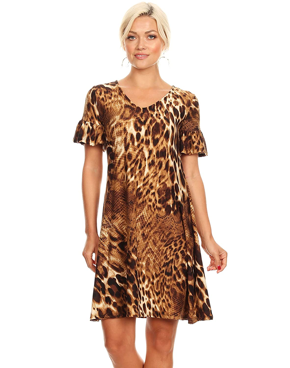 ac069ff64b44 Womens Bell Sleeve Long and Short Sleeve Summer Dresses - Made in USA at  Amazon Women's Clothing store: