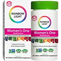 Rainbow Light Women's One Multivitamin, Once-Daily Nutritional Support for Women's Health, 60 Tablets (Package May Vary)