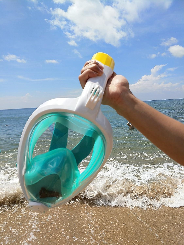 Design senza tubo a respirazione naturale panoramica con ampio angolo di visione Beautrip maschera da snorkeling avvolgente a 180//° maggiore delle maschere tradizioni