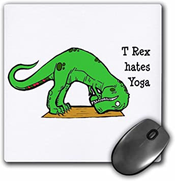 Amazon.com : 3drose T Rex Hates Yoga - Mouse Pad : Office ...
