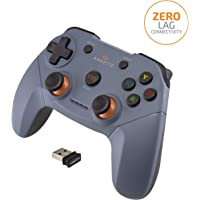 (Renewed) Amkette Evo Elite Wireless Gamepad for PC/Laptop and PS3 Compatible with Dual Vibration Rumble effect (Black)