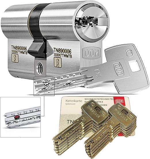 30//45mm c=75mm ABUS EC550 Profil-Doppelzylinder L/änge mit 10 Schl/üssel a//b