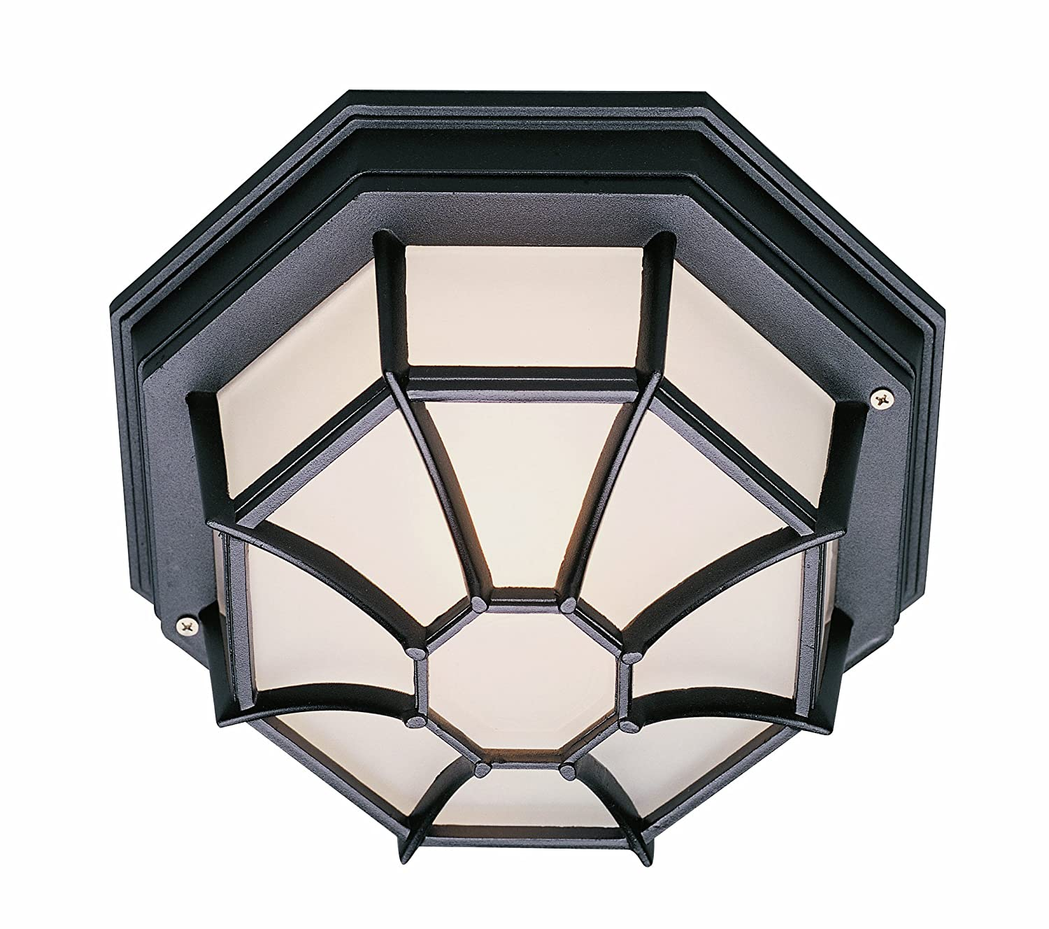 Trans Globe Lighting 40582 RT Outdoor Benkert 5 Flushmount Lantern Rust 5 Inch