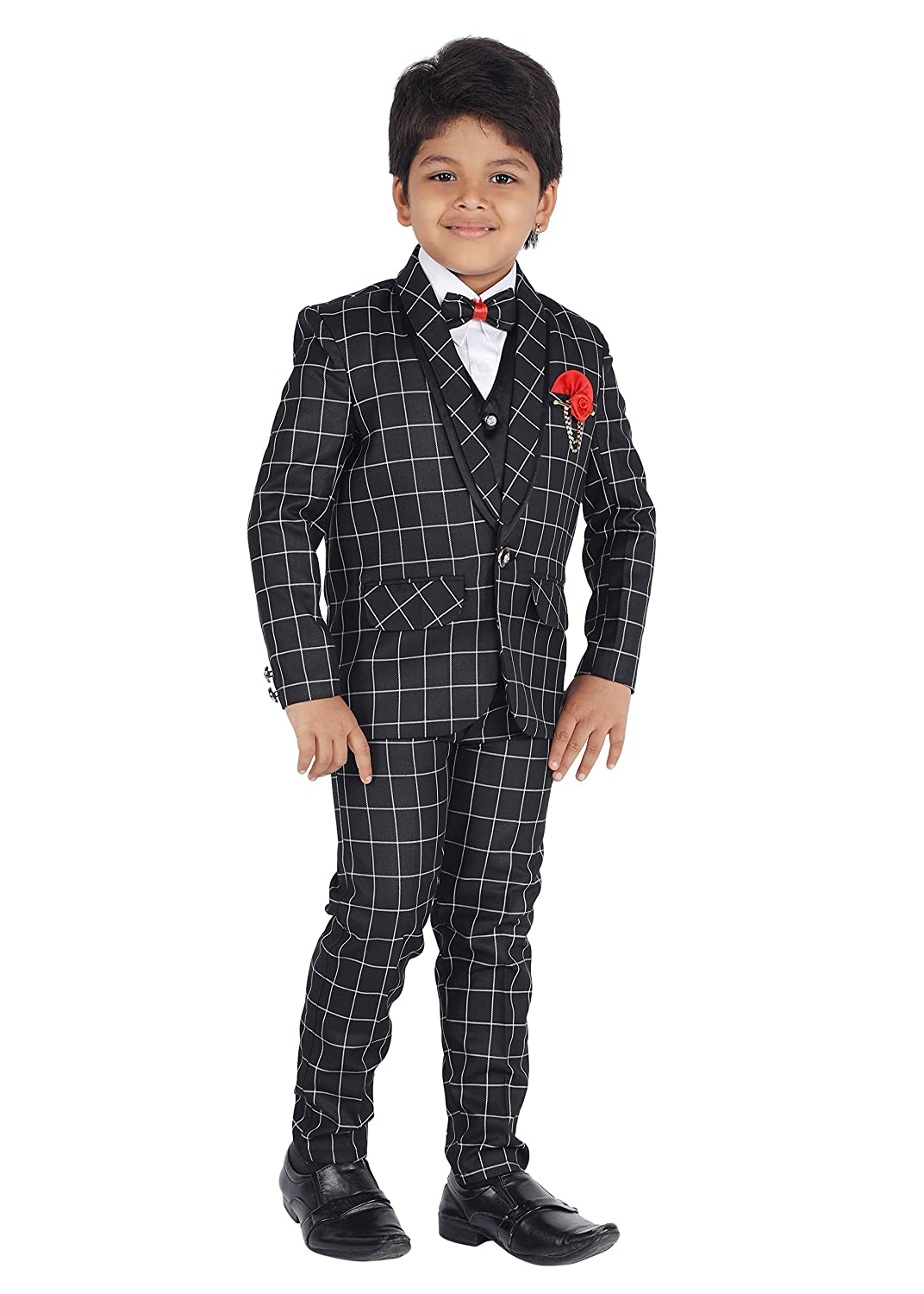 0ef83a79055 Amazon.com  ahhaaaa Kids Party Wear 5 Pc Boys Formal Suit
