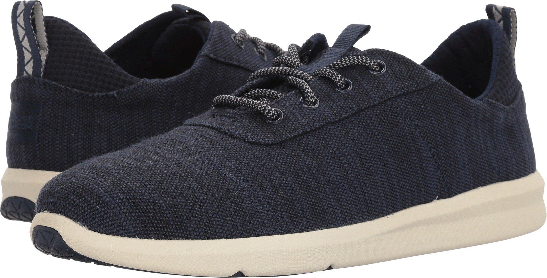 TOMS Men's Cabrillo Cotton Sneaker, Size: 10.5 D(M) US, Color Navy Slubby Cotton
