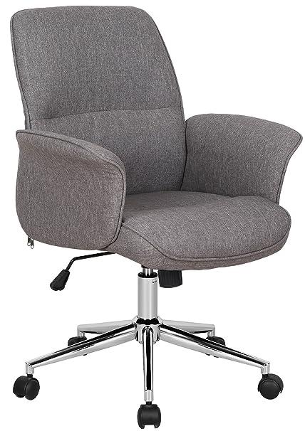 Büro & Schreibwaren Bürostuhl 2 Stoffbezug Rot Schreibtischstuhl 120kg Armlehne Chefsessel Drehst... Büromöbel