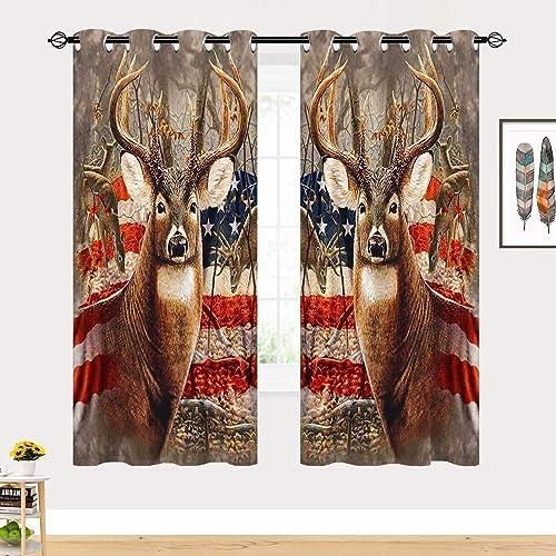 ANHOPE Deer Blackout Curtains