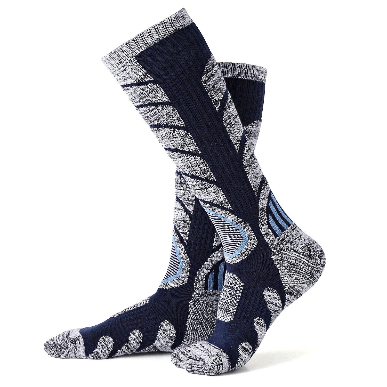 2 paires de chaussettes de compression, VICWARM Chaussettes de coussin de  mèche athlétiques pour la f74f437f94b4