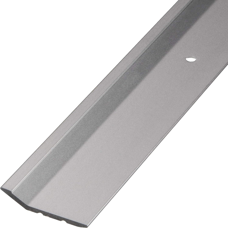 Gedotec Profil/é de jonction en aluminium perfor/é pour plancher compensation de hauteur Argent/é anodis/é 100 cm marron