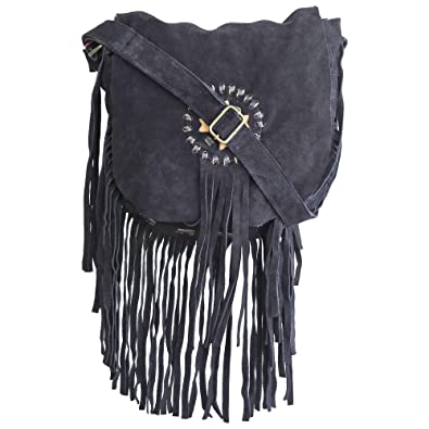 a236d0038077 Amazon.com: Suede Leather Hobo Cross Body Shoulder Bag Womens Sling ...