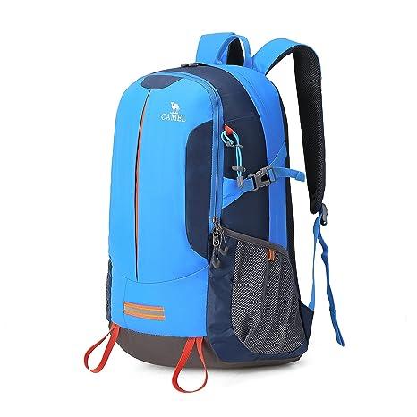 beaa65e17299d CAMEL CROWN Wanderrucksack Reiserucksack 30L Light Travel Rucksäcke  Wasserdicht Rucksack mit Regenschutz für Männer Frauen Outdoor