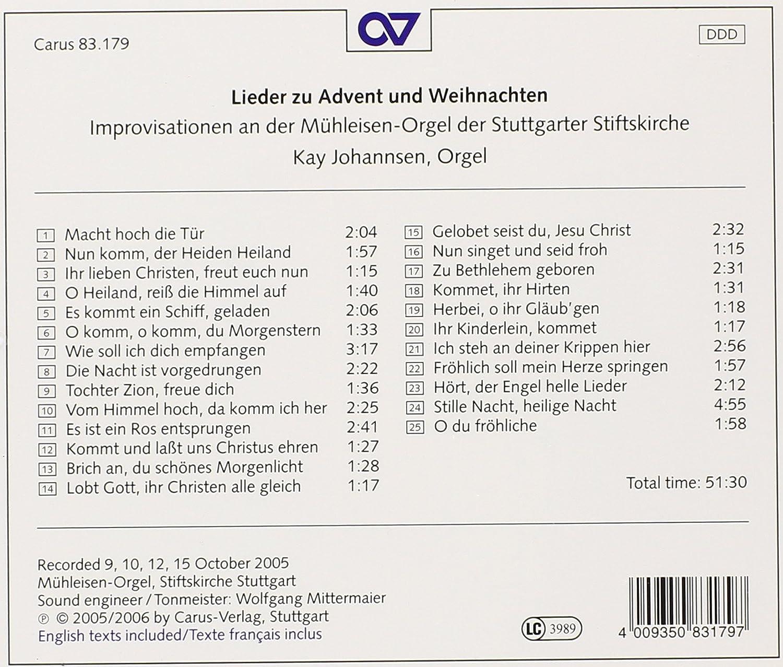 Lieder zu Advent und Weihnachten - Improvisationen an der Mühleisen ...