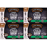 Java House Cold Brew Coffee Concentrate Single Serve Liquid Pods - 1.35 Fluid Ounces Each (Decaf, 48 Count)
