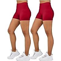 Gilbin Ultra Soft High Waist Yoga Stretch Mini-Bike Shorts for Women-Many Colors-One Size & Plus Size