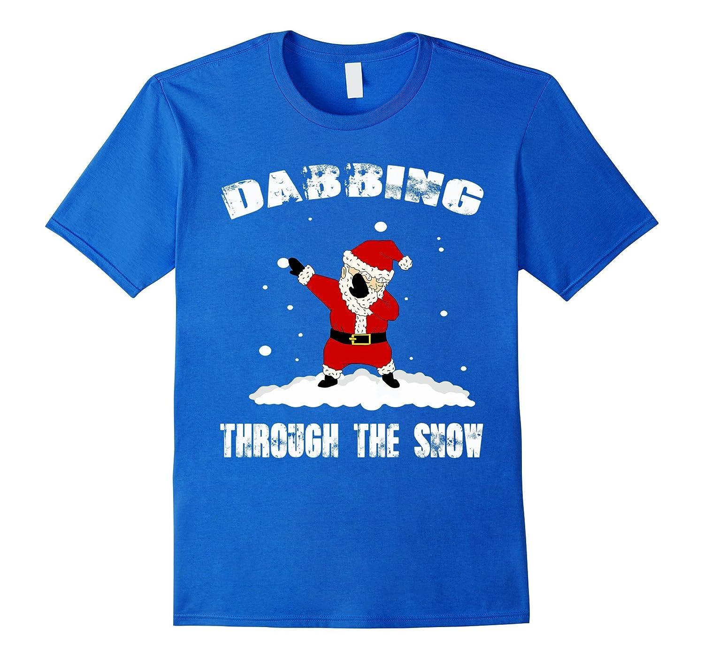Dabbing through the snow tshirt santa-TD