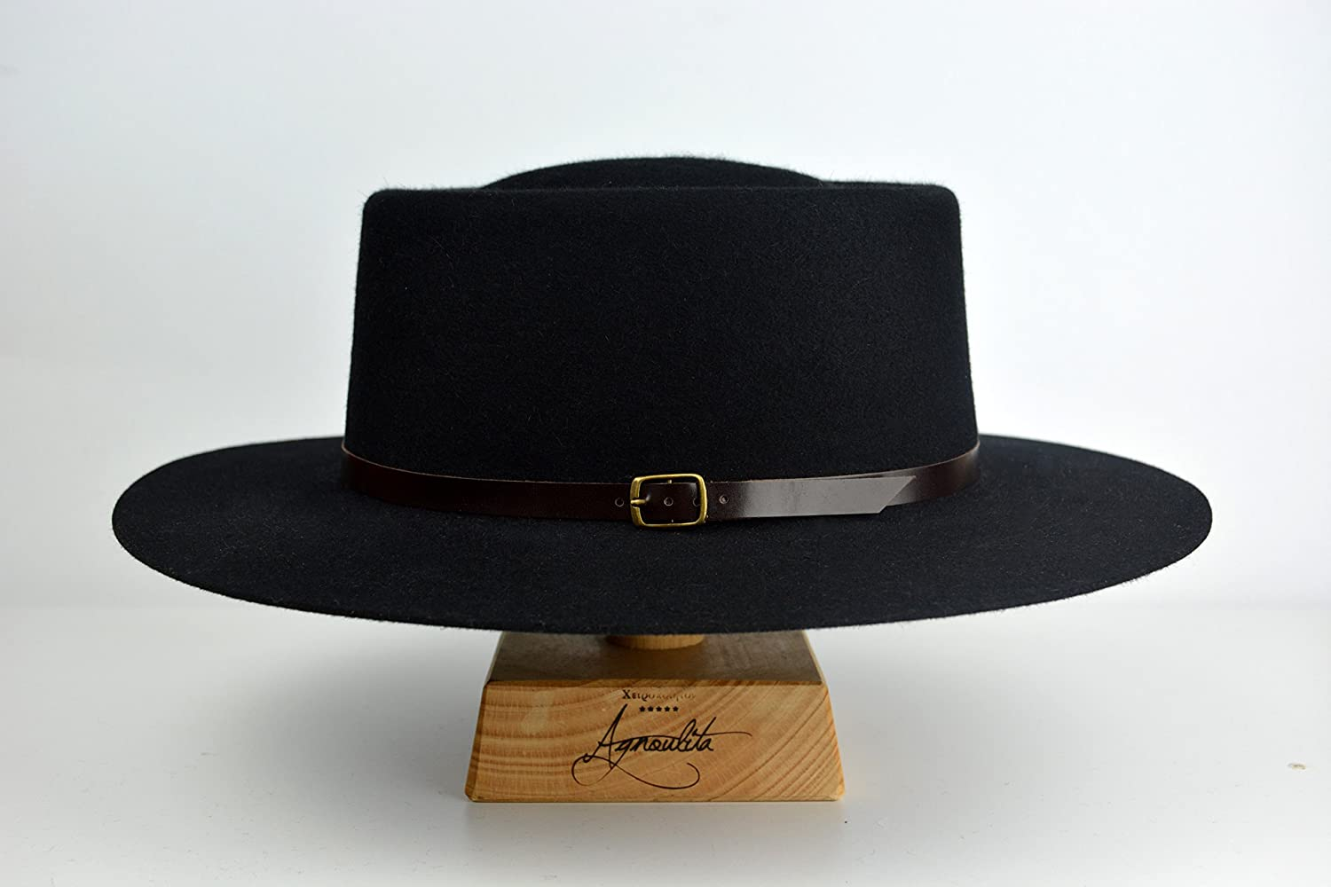 The Voodoo - Black Rabbit Fur Felt Vaquero Crown Bolero   Riding Hat - Extra-  larger image e135c6f16e97