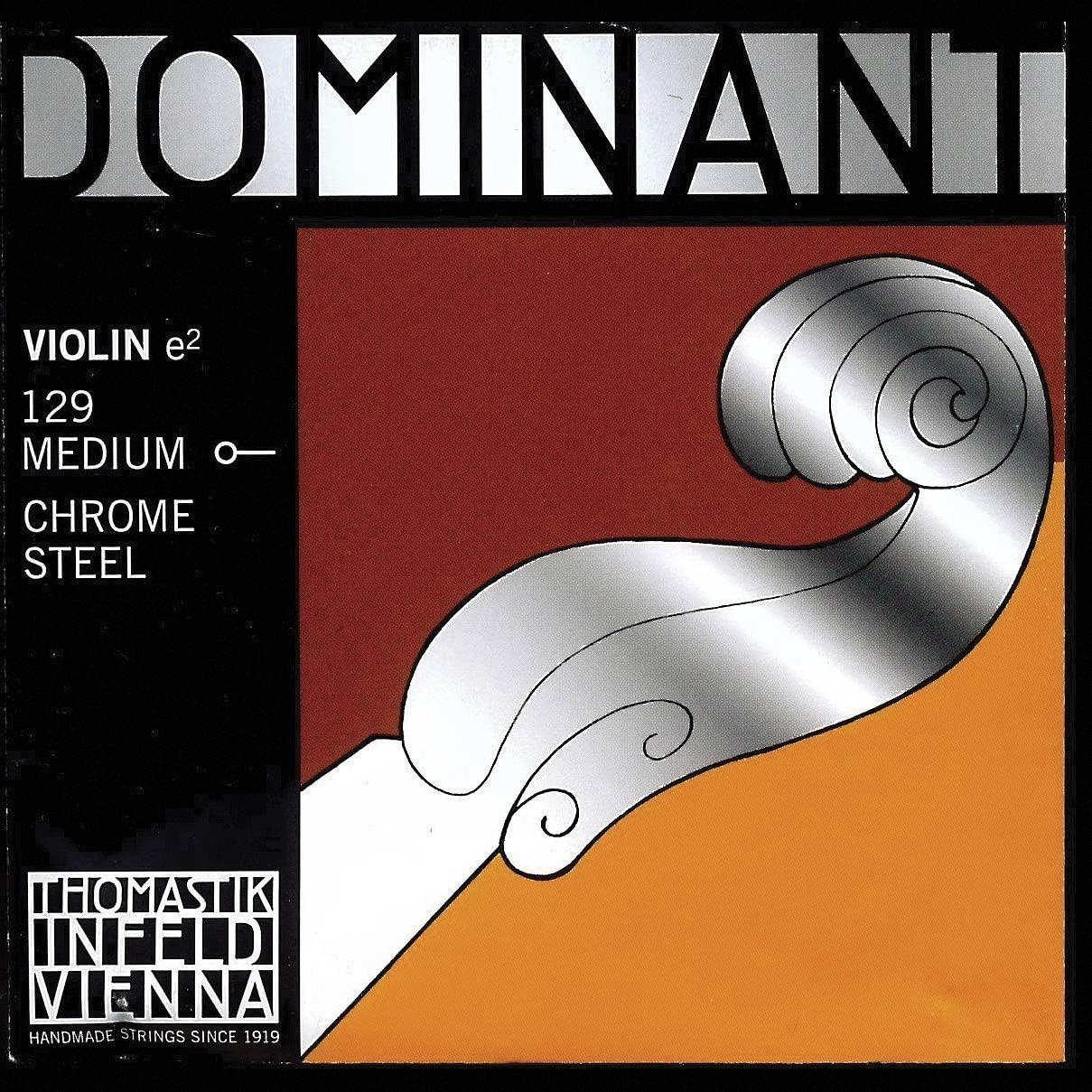 Thomastik Dominant 4//4 Violin E String Medium Steel Ball-End