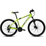"Montra Rock (2017) 1.0D 26"" 21 Speed Dual Disc Brake Stylish Sporty Neon Yellow Alloy Bike/Bicycle"