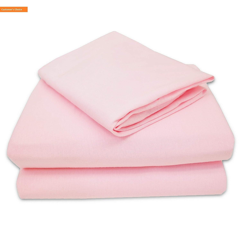 Mikash ソフト 100% 天然 ジャージ コットン 3ピース 幼児用 シーツセット ピンク ソフト 通気性 女の子用 | スタイル 84600120 B07P2MGB4L