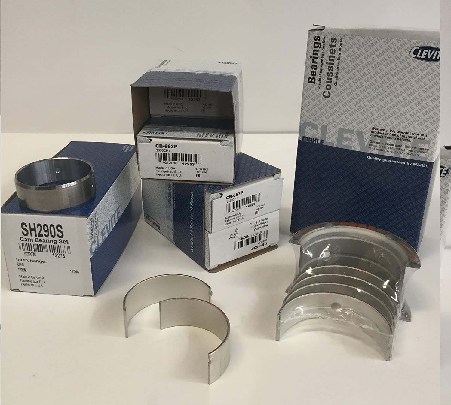 Clevite77 Small Block Chevy Bearing kit. Connecting Rod Bearings, Main Bearings & Cam Bearings (All Std Sizes) Clevite77 MAHLE