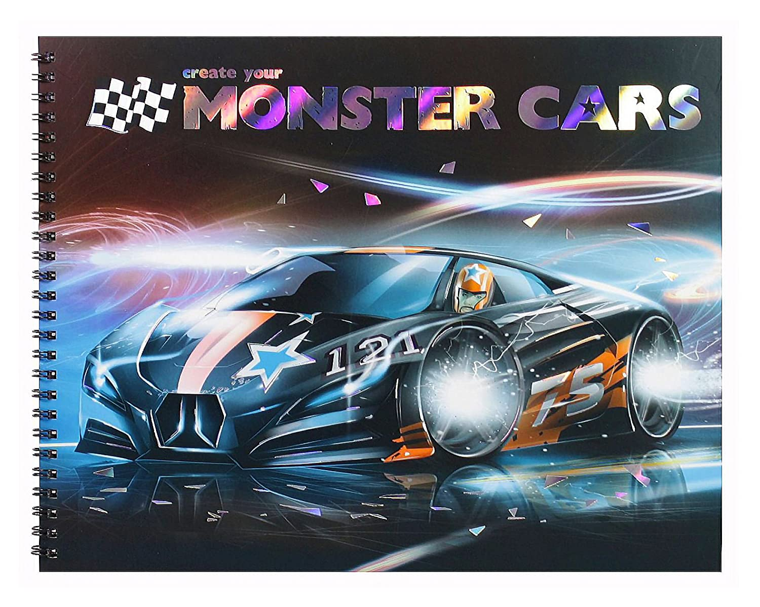 New Depesche Create Your Monster Cars Colouring Book Amazon Co Uk