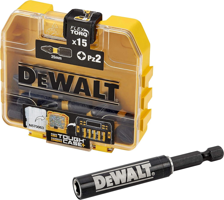 Dewalt DT70618T-QZ DT70618T-QZ-Juego de 15 Piezas Impact Torsion guía magnética compacta. Puntas de atornillar de 25 mm