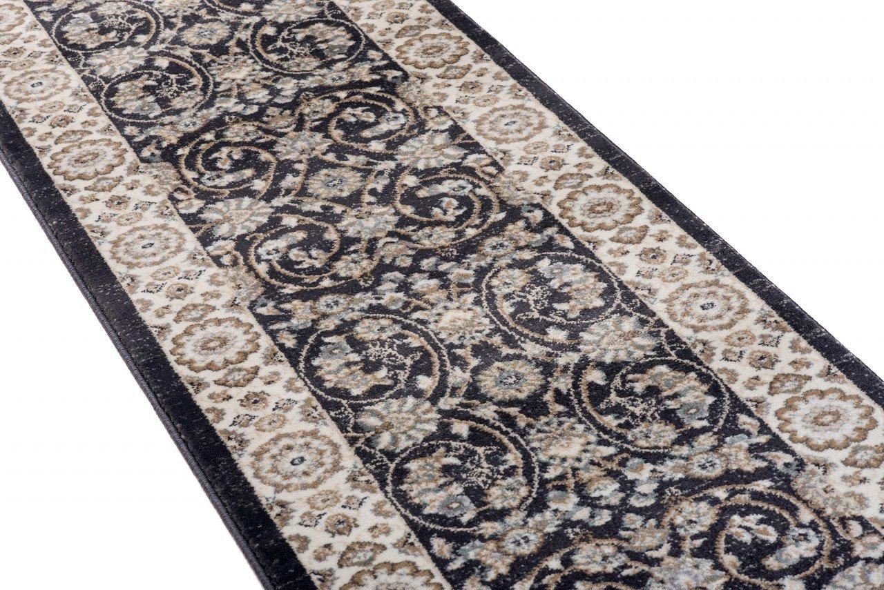 Läufer Teppich Teppich Teppich Flur in Anthrazit Schwarz - Orientalisch Klassischer Muster - Brücke Läuferteppich nach Maß - 100 cm Breit - AYLA Kollektion von Carpeto  - 100 x 225 cm B079YT5KNW Lufer 659dc5