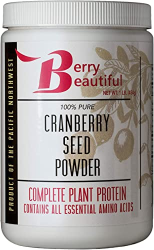 Cranberry Seed Powder 1 lb. 454 g Milled from US Grown Cranberry Seed That is Cold Pressed by Berry Beautiful for Active Women, Vegans, Vegetarians