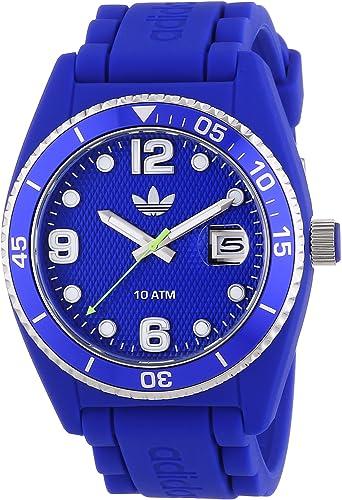 kiwi Hasta arroz  Amazon.com: adidas ADH6153 Azul Brisbane silicona reloj: Watches