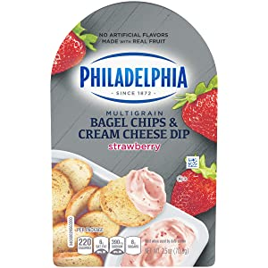 Philadelphia Bagel Chips & Strawberry Cream Cheese Dip (2.5 oz Package)