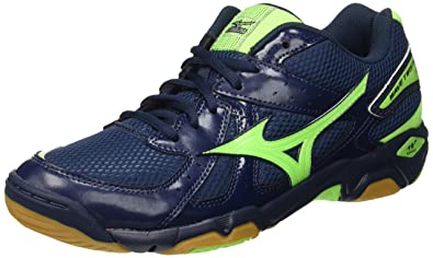 Mizuno Men's Wave Twister 4 Multisport Indoor Shoes, Blue (Dress Blues/Green  Gecko