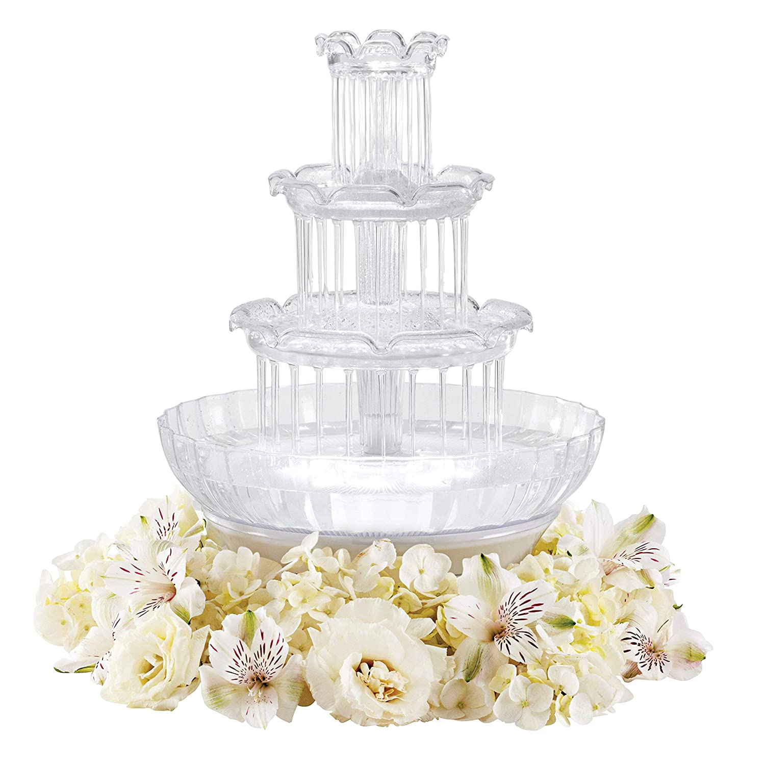 Holidays and any Celebration where Friends and Family Gather Togethers Renewed Birthdays Wilton Fanci Flow Tabletop Fountain for Weddings Clear
