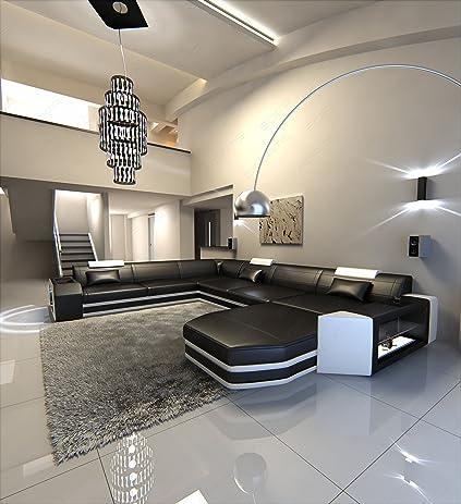 Modern U Shaped Sofa PRATO XXL With Lights