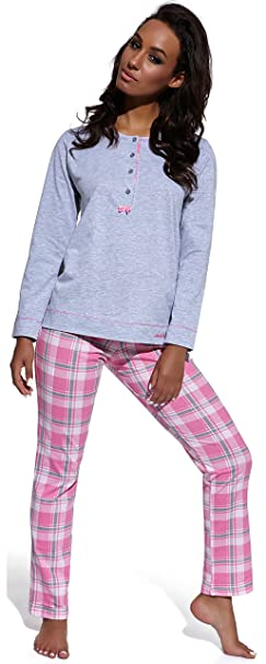 Cornette Pijamas Dos Piezas para Mujer 1GN2S (Mezcla de Color/Rosa, S)