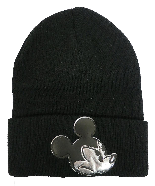 a4bdbc95 ... switzerland disney mickey mouse black adult mens beanie hat 4013 at  amazon mens clothing store 86ba1