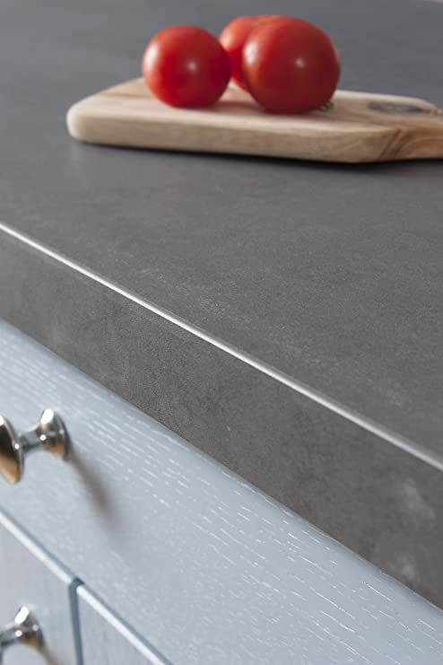 Betonoptik - Resopal Küchenarbeitsplatten (3m × 600mm × 38mm ...