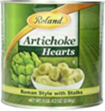 Roland Foods Artichoke Hearts, Roman Style with Stalks, 81 Ounce