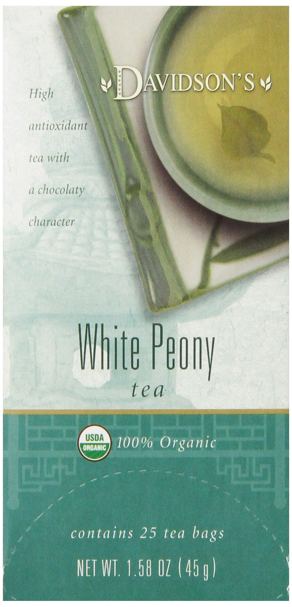 Davidson's Tea White Peony, 25-Count Tea Bags (Pack of 6) by Davidson's Tea