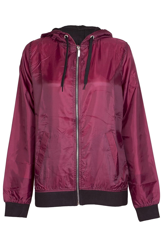 Womens Bomber Style Raincoat Jacket