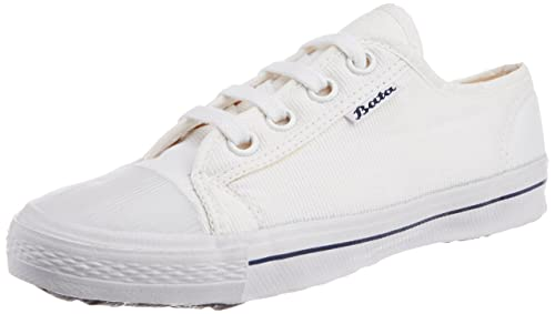 143def581816 Image Unavailable. Image not available for. Colour  BATA Boys Super Match White  Canvas Uniform Shoes - 7 kids UK India ...