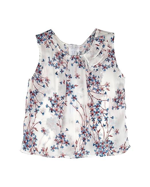N+V 18N279I, Blusa para Niñas, Azul, años (Tamaño del Fabricante