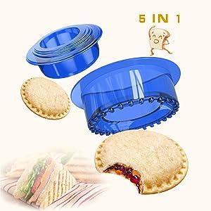 Yumkt Sandwich Cutter and Sealer Sandwich Maker Sandwich Decruster Sandwich for Kids,Blue