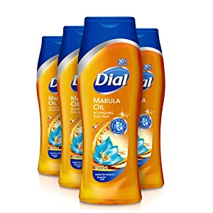 Dial Body Wash, Marula Oil, 21 Ounce (Pack of 4)