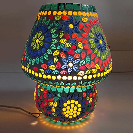 Lámpara de mesa de mosaico de vidrio decorativa hecha a mano ...