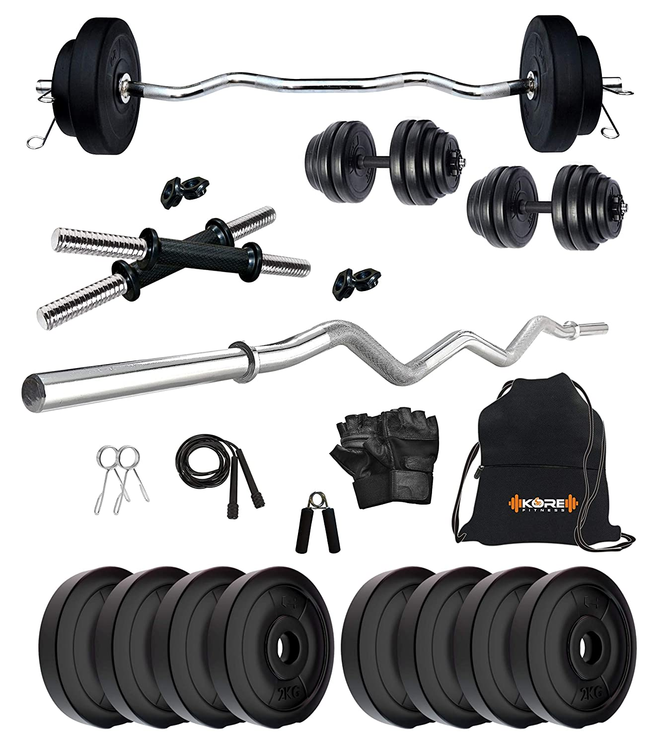 Combo Star X 12 Kg Home Gym with 3 Feet Rod