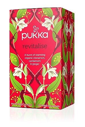 Pukka Revitalise té de hierbas Canela Cardamom & Ginger – -20 ...