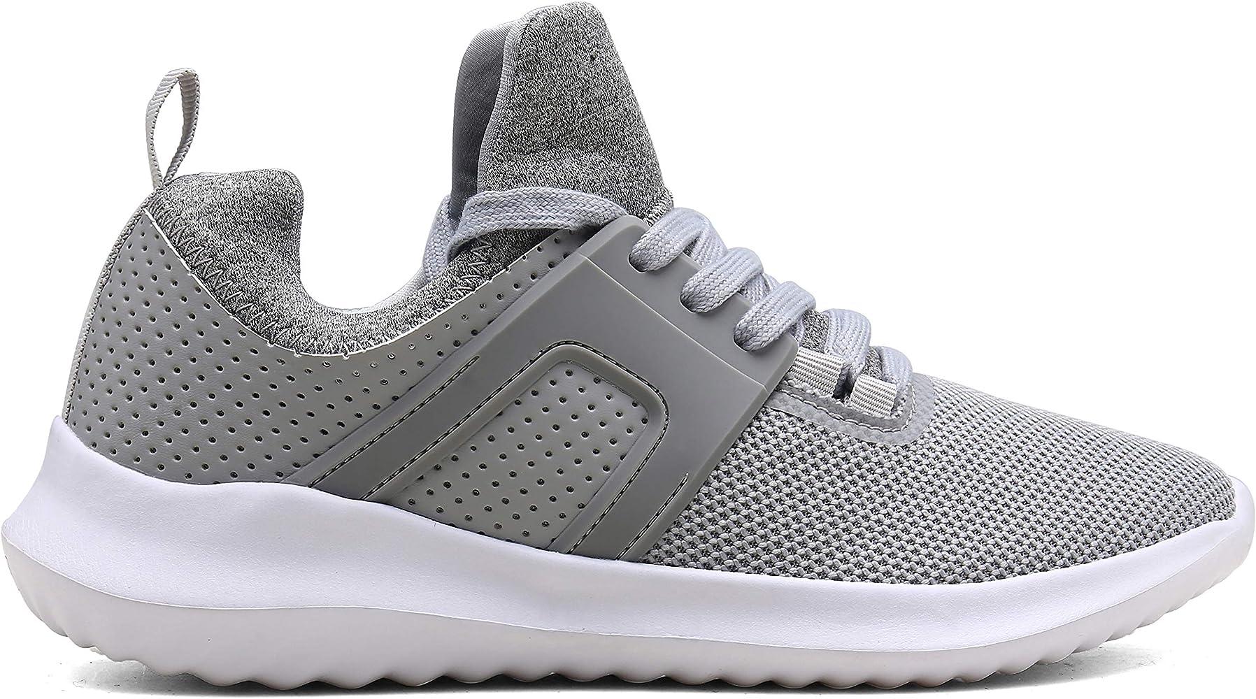 Vedaxin Zapatillas de Deporte Respirable Sneakers Zapatillas Running para Hombre Mujer Unisex (EU40, A Gris Claro ...