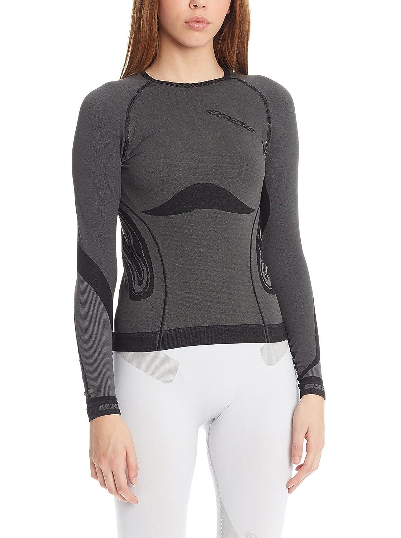 Expedus Damen Ski Unterwäsche Funktionswäsche Shirt graphit/schwarz