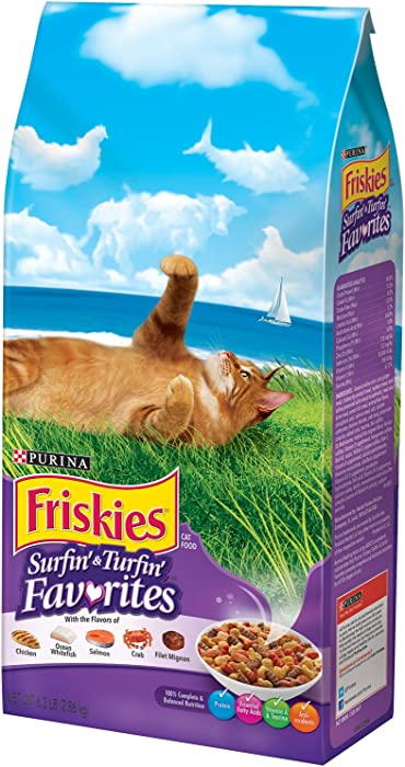 Best Dry Cat Food Friskies Surfin & Turfin Purina Treats Favorites Wellness Feast Nutrition Gourmet